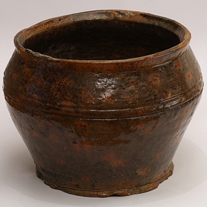 Tall pottery bowl